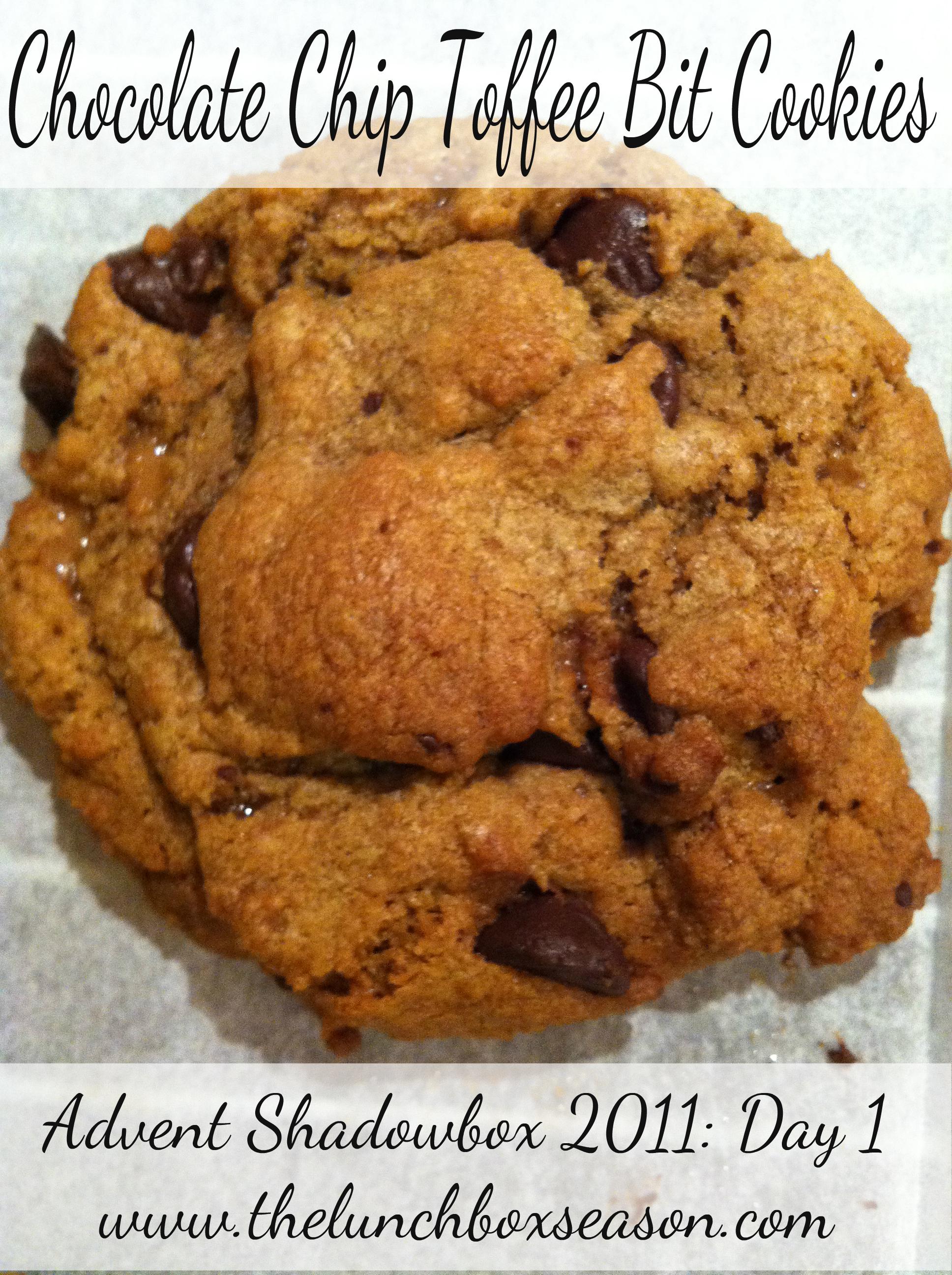 chocolate chip toffee bit cookies