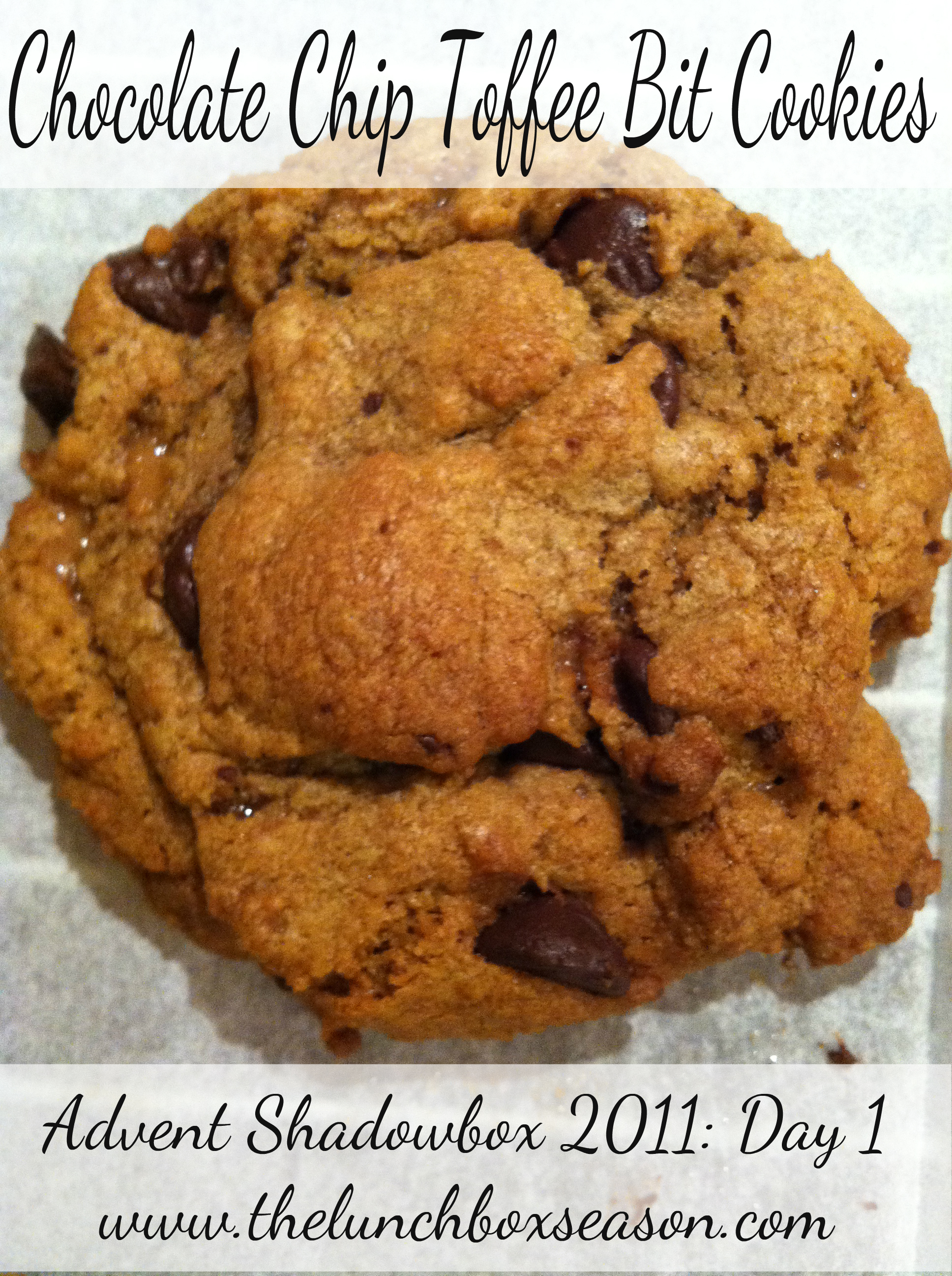 chocolate chip toffee bit cookies