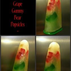 White Grape Gummy Bear Popsicles