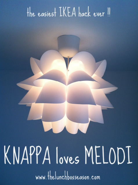 Knappa Pendant Lamp Knappa loves melodi the easiest ikea hack ever the lunchbox season audiocablefo