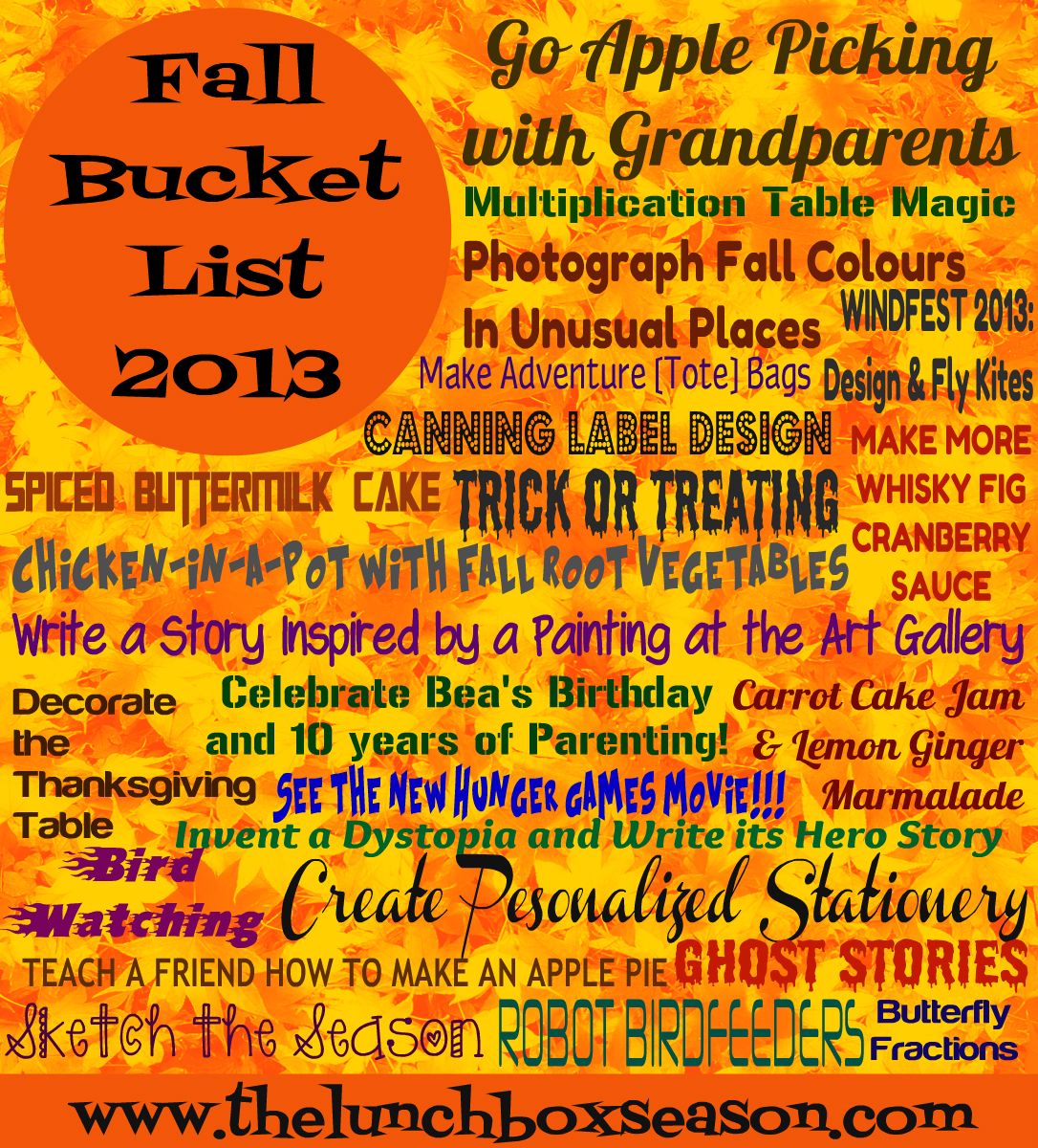 Fall Bucket List 2013