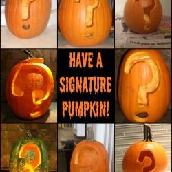 Have a Signature Pumpkin