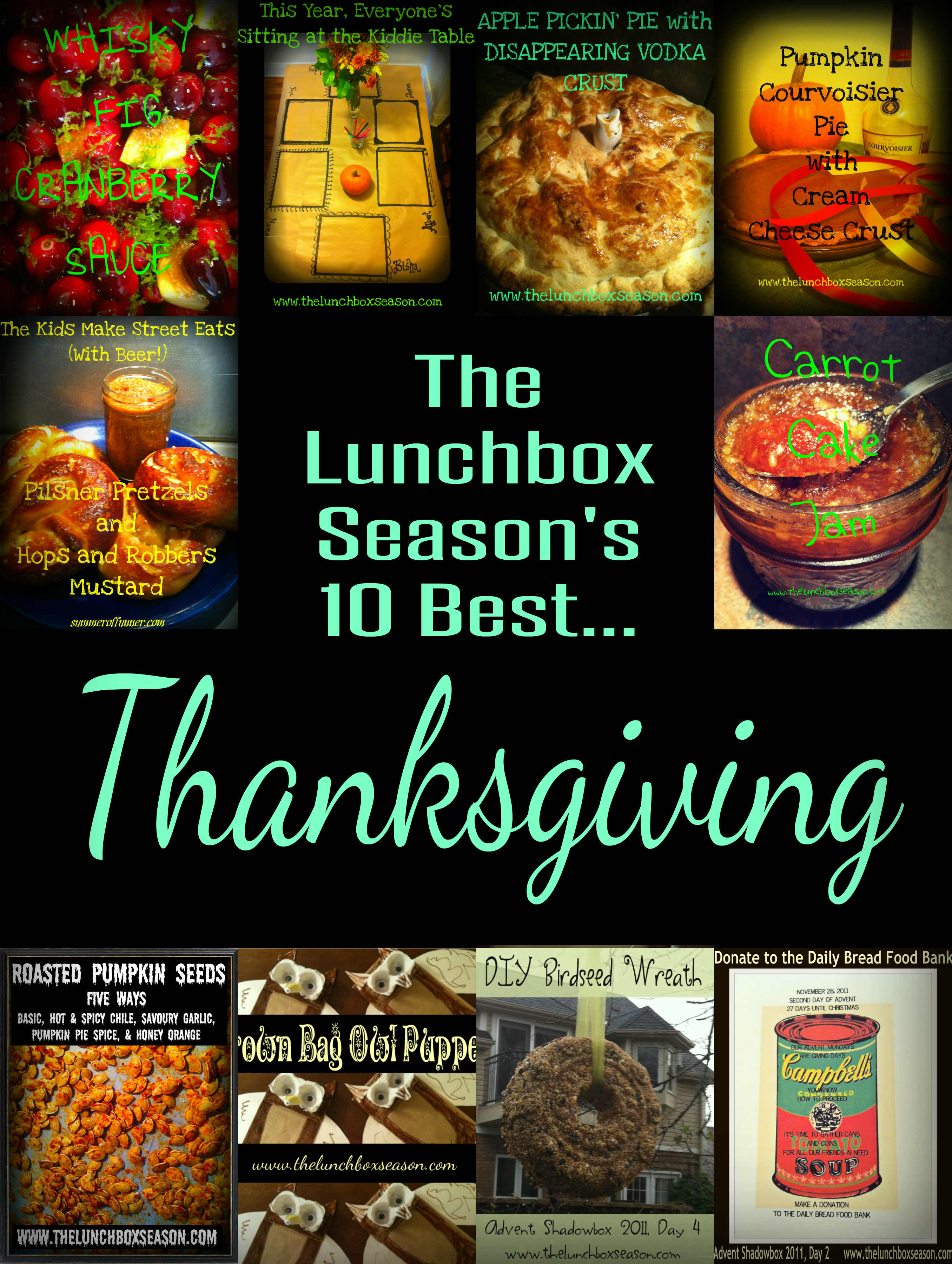 The Lunchbox Seasons 10 Best Thanksgiving