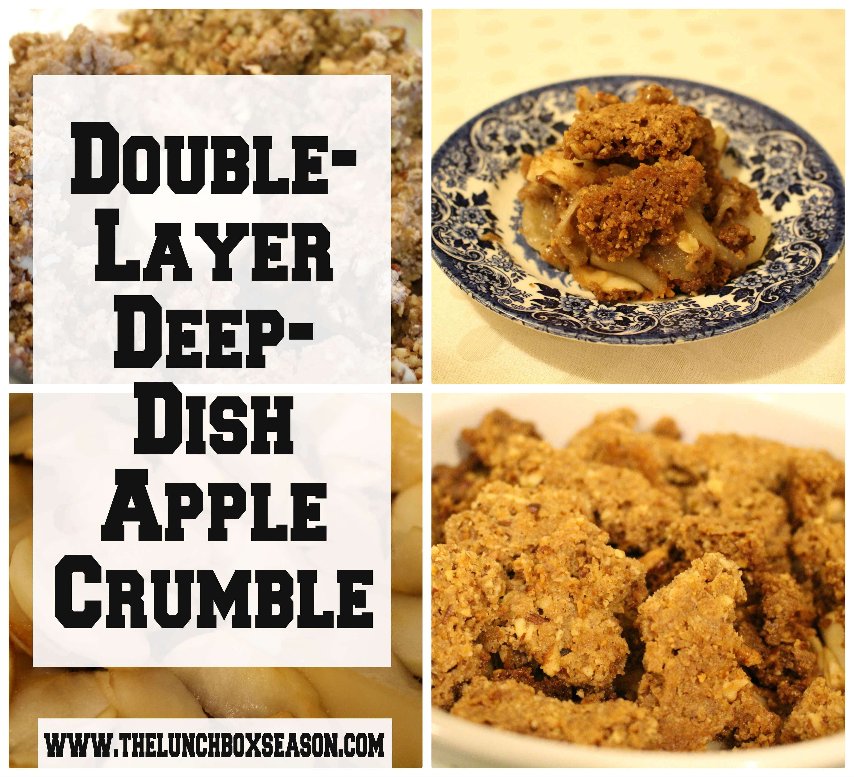Double Layer Deep Dish Apple Crumble Recipe