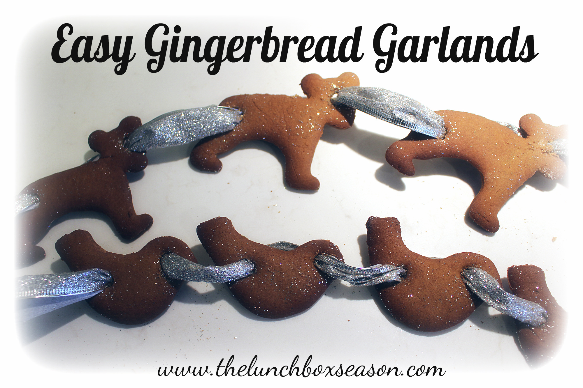 Easy Gingerbread Garlands for Advent from The Lunchbox Season