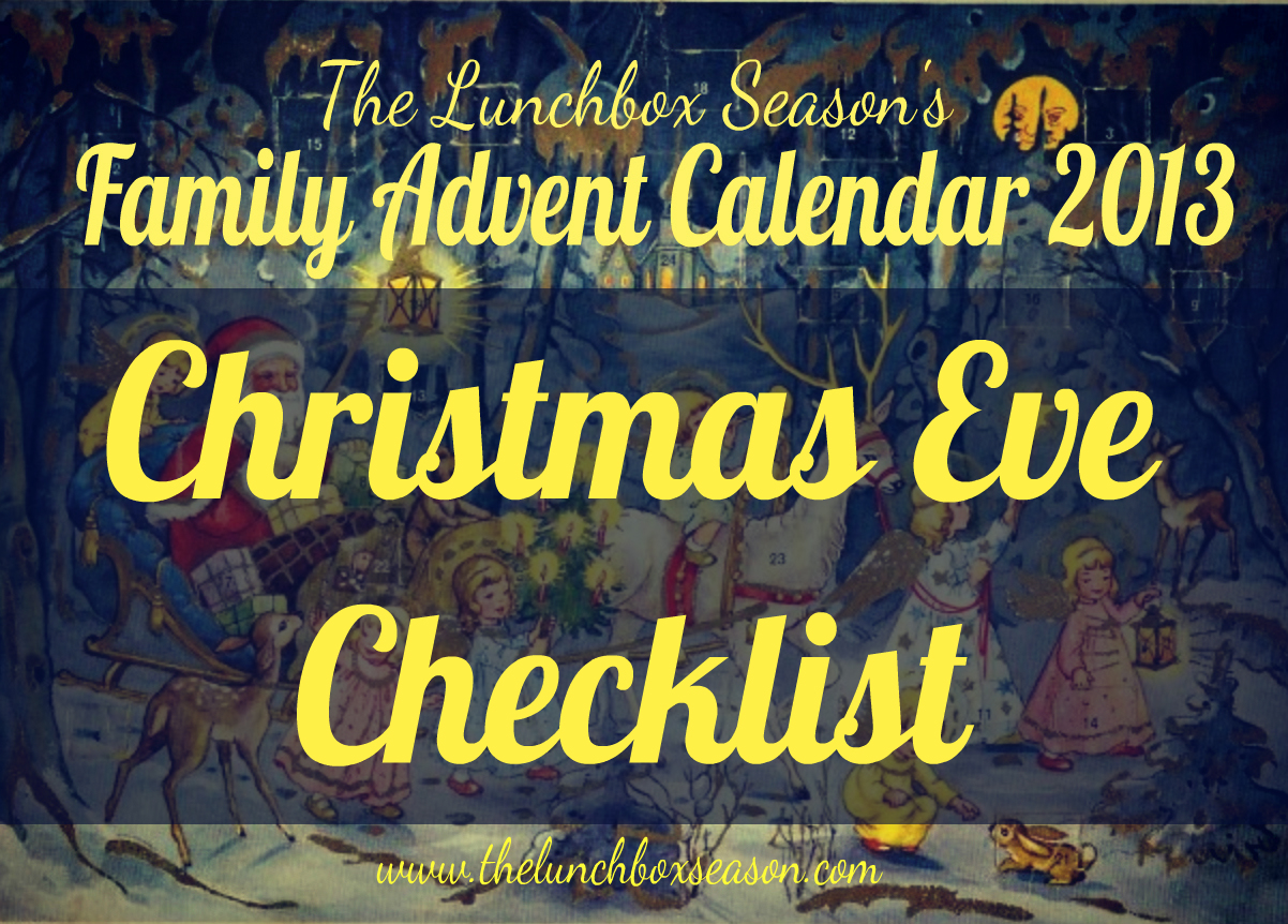 2013 Christmas Eve Checklist 2013