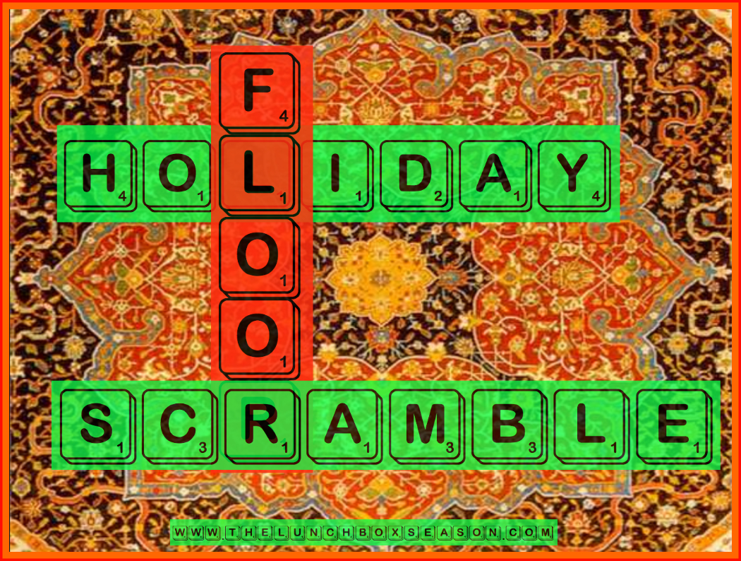 Holiday Floor Scramble from the Lunchbox Season