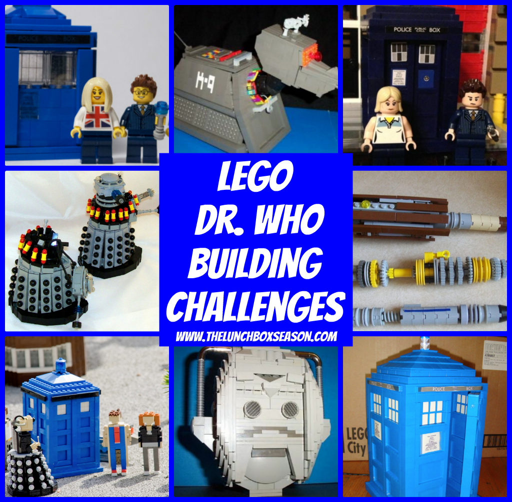 Lego Doctor Who Building Challenges from The Lunchbox Season
