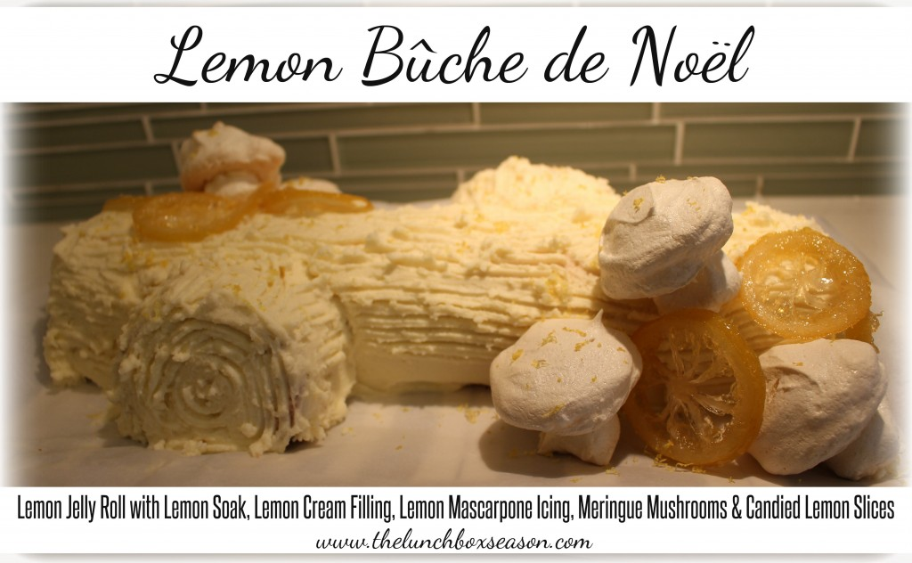 Lemon Buche de Noel with Full Recipe and Instructions Yule Log Cake here we come