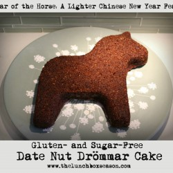 Year of the Horse A Lighter Chinese New Year Feast Gluten and Sugar-Free Date Nut Drommar Cake