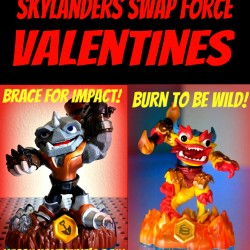 Homemade Printable Skylanders Swap Force Valentines from The Lunchbox Season