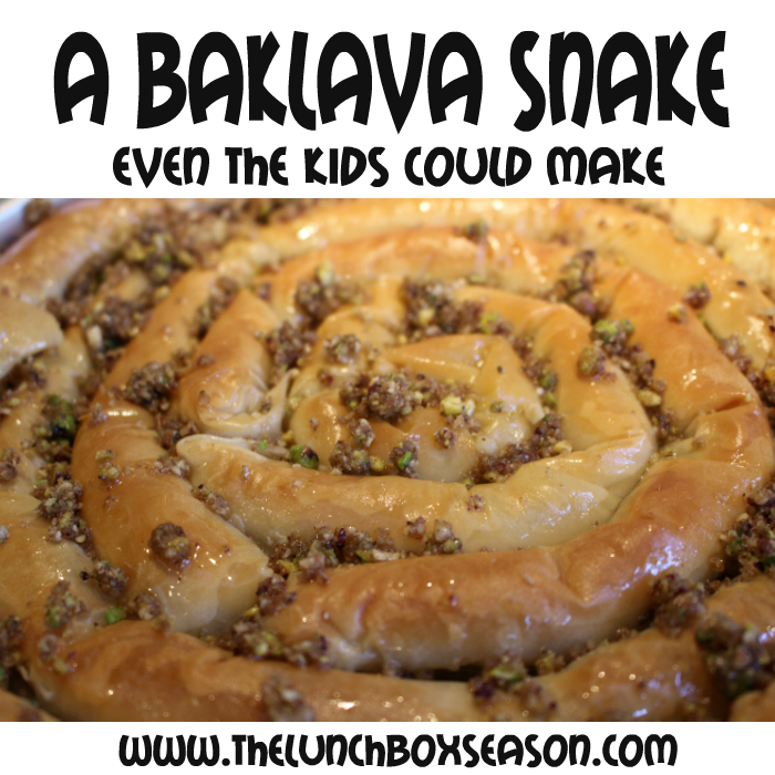 A baklava snake even the kids could make! easy awesome baklava recipe