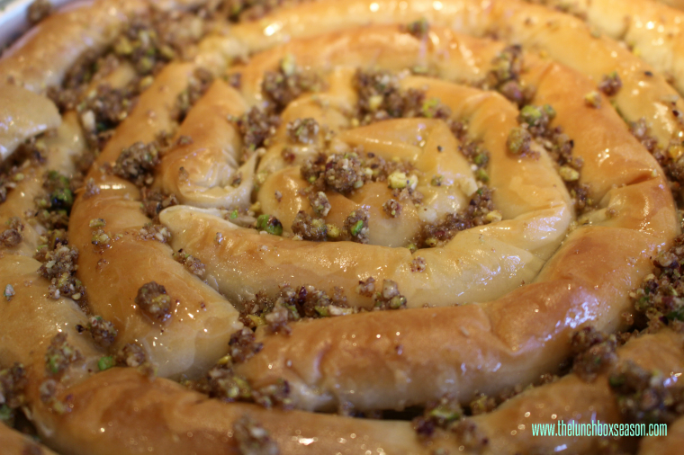 Baklava snake recipe from the lunchboxseason