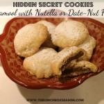 Hidden Secret Cookies Ma'amool with Nutella or Date-Nut Filling Recipe