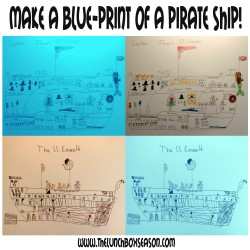 Make a Blue-Print of a Pirate Ship! Pirate Party Idea
