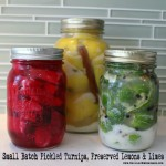 Small batch pickled turnips, preserved lemons and preserved limes easy recipes from the lunchbox season