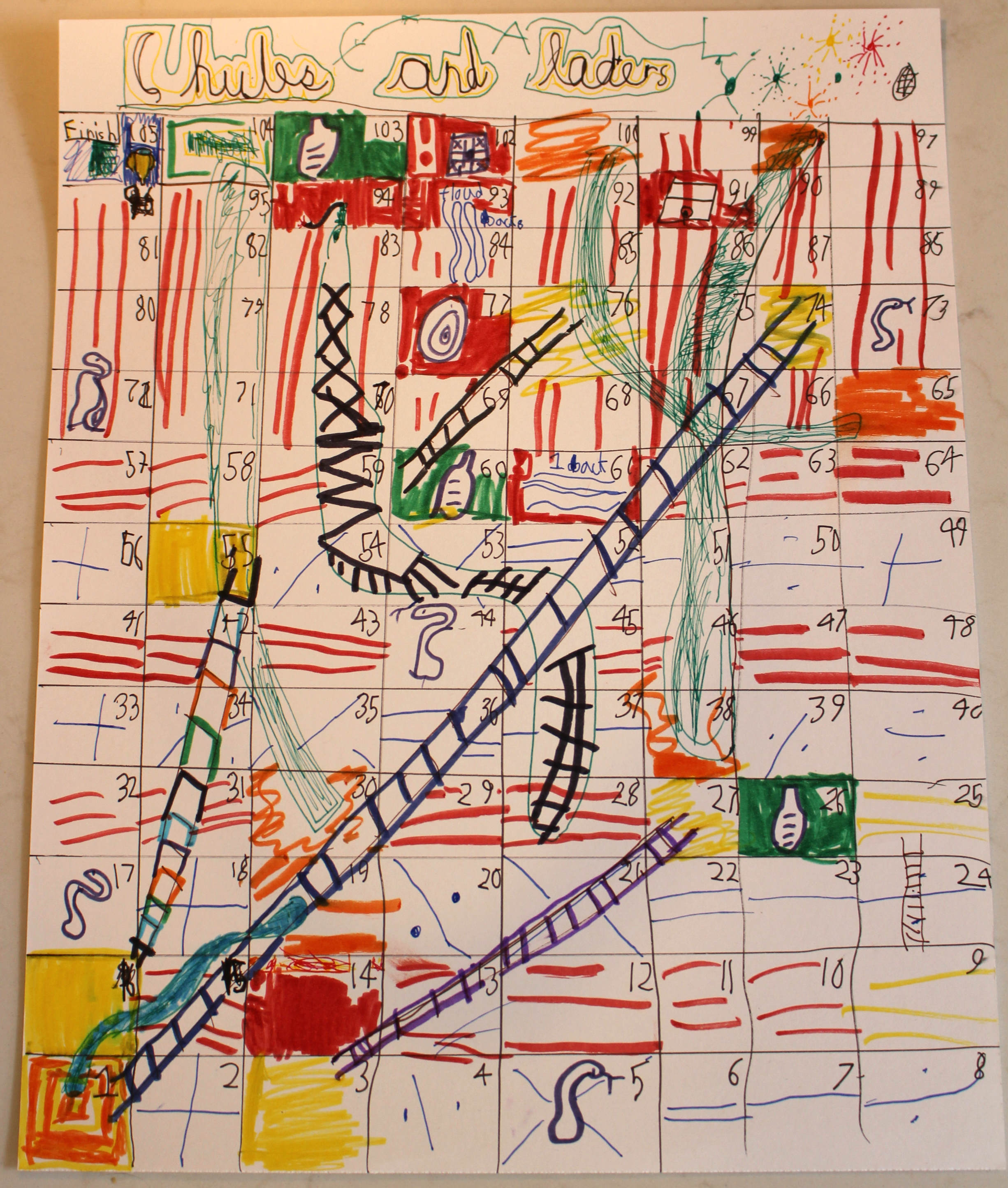 how to draw snakes and ladders