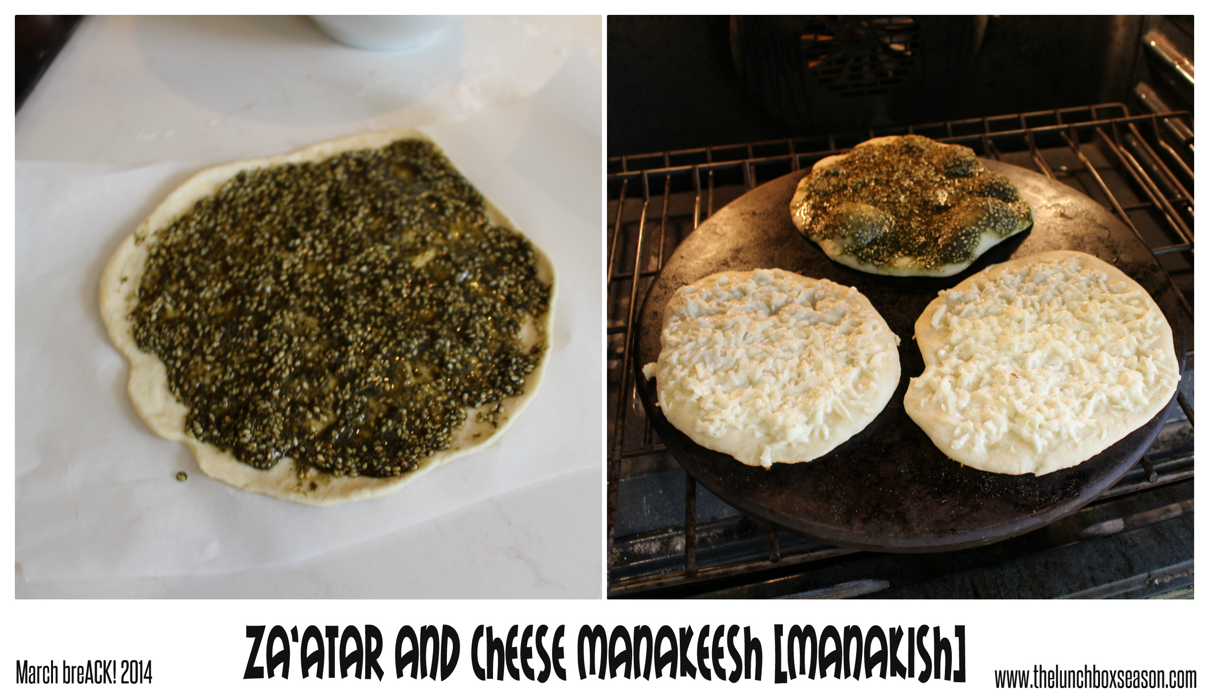 za'atar and cheese manakeesh [manakish]