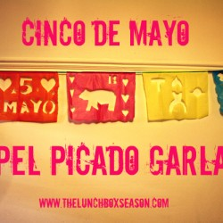 cinco de mayo papel picado garland diy from the lunchbox season