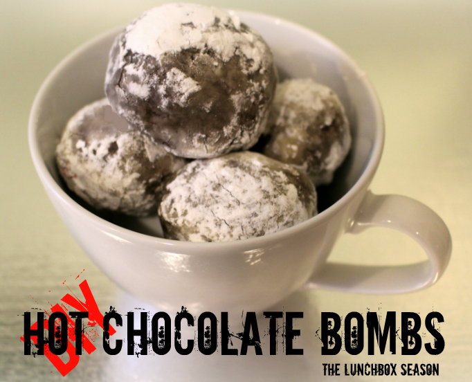 DIY Hot Chocolate Bombs from the Lunchbox Season...Just drop one or two into hot milk and voila! hot chocolate!