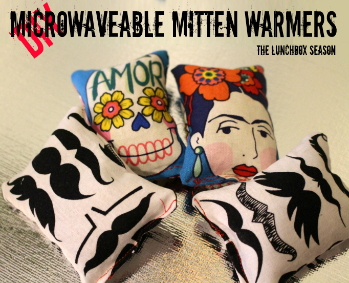 DIY MIcrowaveable Mitten Warmers, from The Lunchbox Season