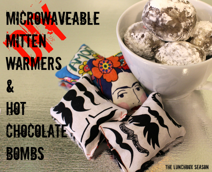 DIY Microwaveable Mitten Warmers and Hot Chocolate Bombs