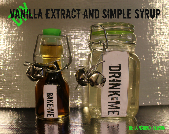 DIY Vanilla Extract and Simple Syrup for Holiday Gifts Hostess Gifts or just to look pretty on your counter with free printable tags