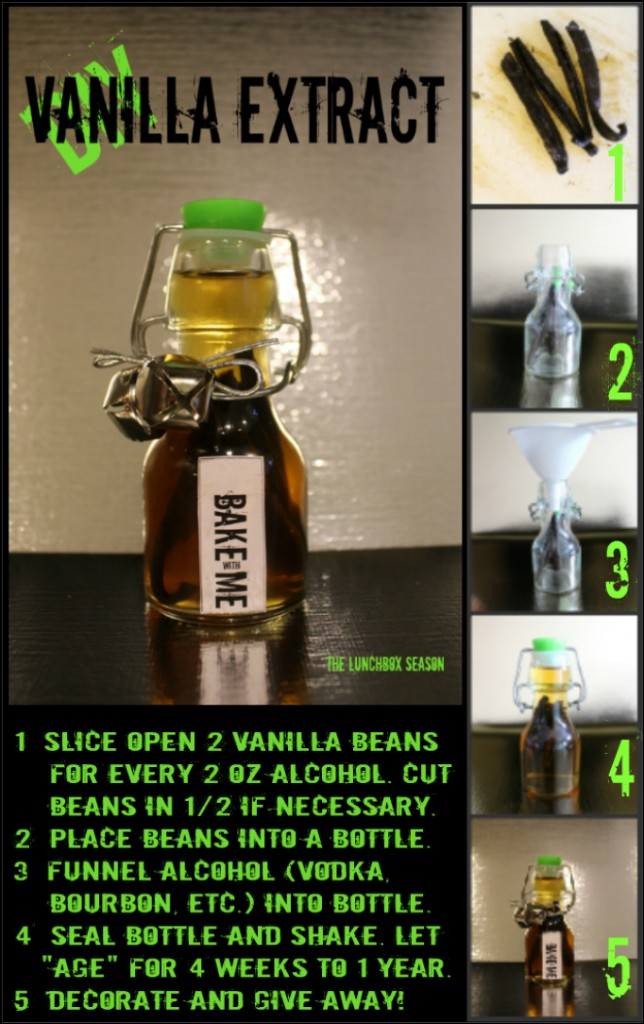 DIY Vanilla Extract visual diy