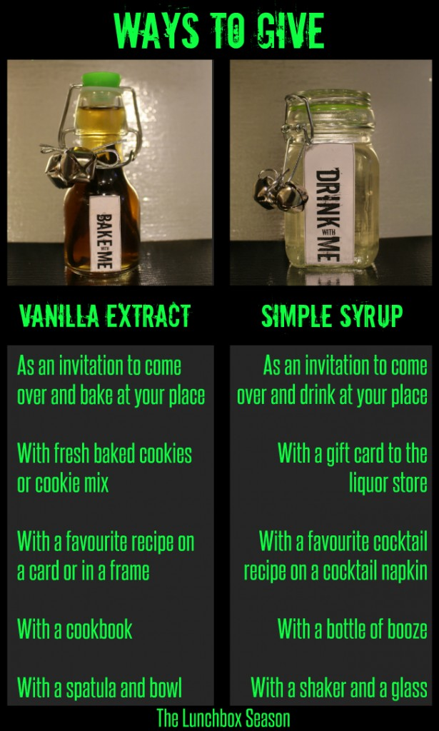 Ways to Give Vanilla Extract or Simple Syrup
