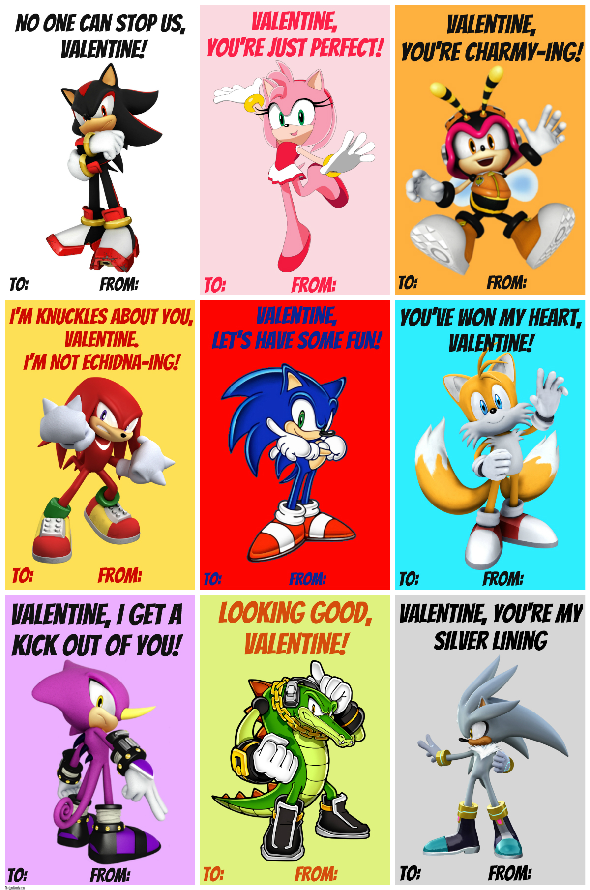 Free Printable Sonic Valentines THE LUNCHBOX SEASON – Free Printable Funny Valentines Day Cards