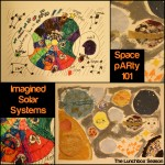 Space pARTy 101 Imagined Solar Systems a fun kids art and science craft from The Lunchbox Season
