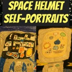 Space pARTy - Buzz Aldrin Inspired Space Helment Self-Portraits Art Project for Kids from The Lunchbox Season