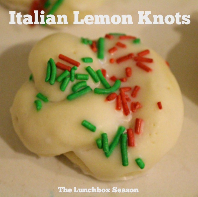 Italian Lemon Knots my Nana's recipe from The Lunchbox Season