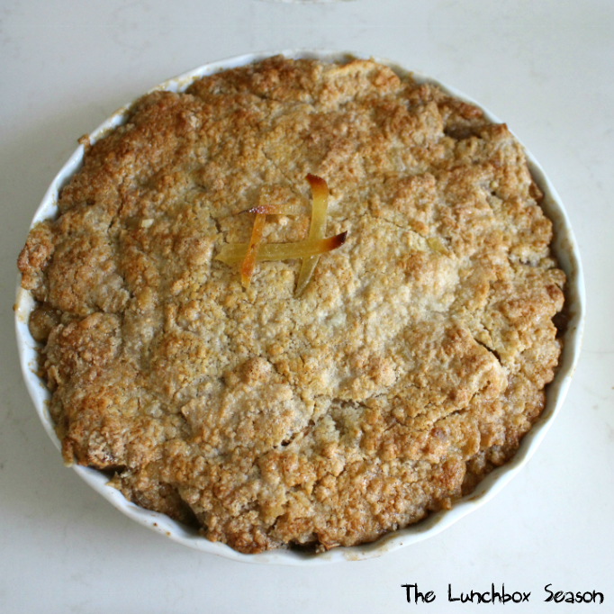 Apple Crisp with Candied Ginger Inside and Out - THE LUNCHBOX SEASON