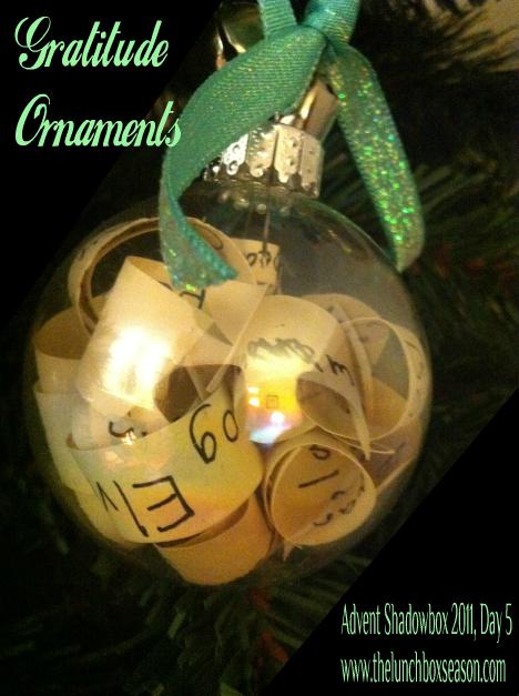 gratitude ornaments