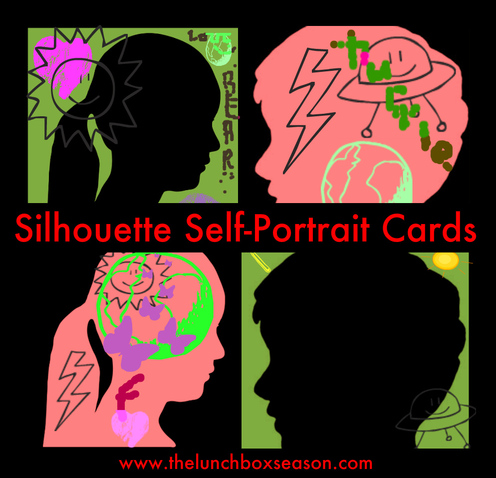 silhouette selfportrait cards
