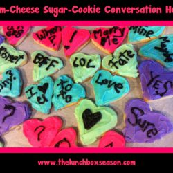 cream cheese sugar cookie conversation hearts