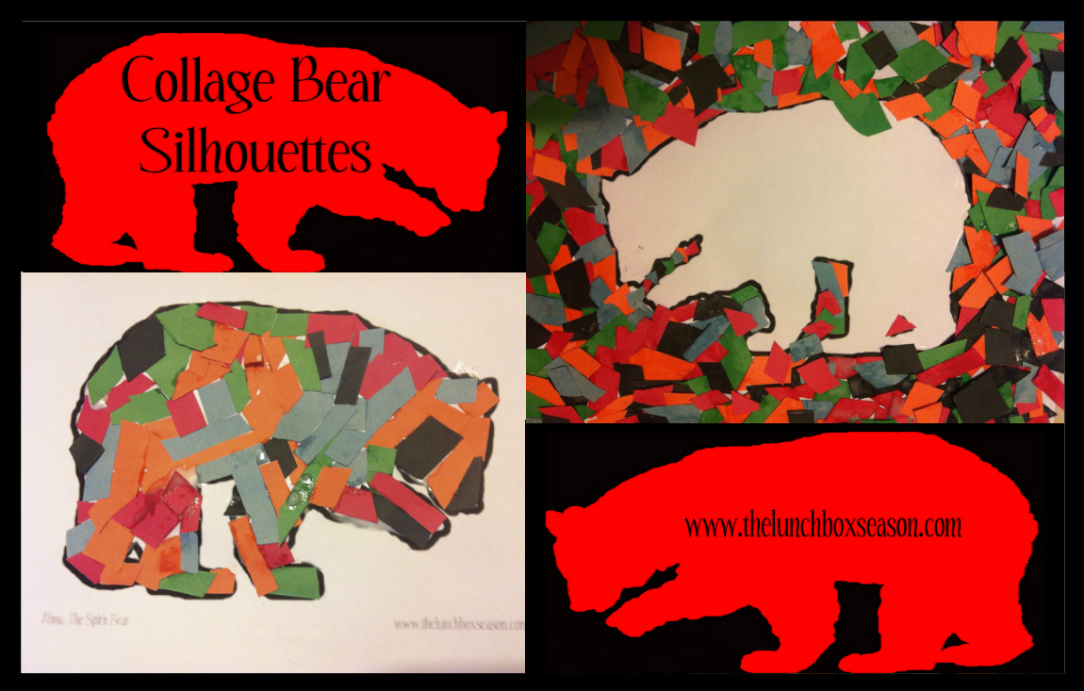 The Lunchbox Season's Collage Bear Silhouettes with a Free Printable