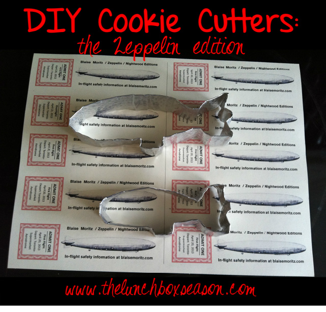 DIY COOKIE CUTTERS The ZEPPELIN EDITION From THELUNCHBOXSEASONdotCOM