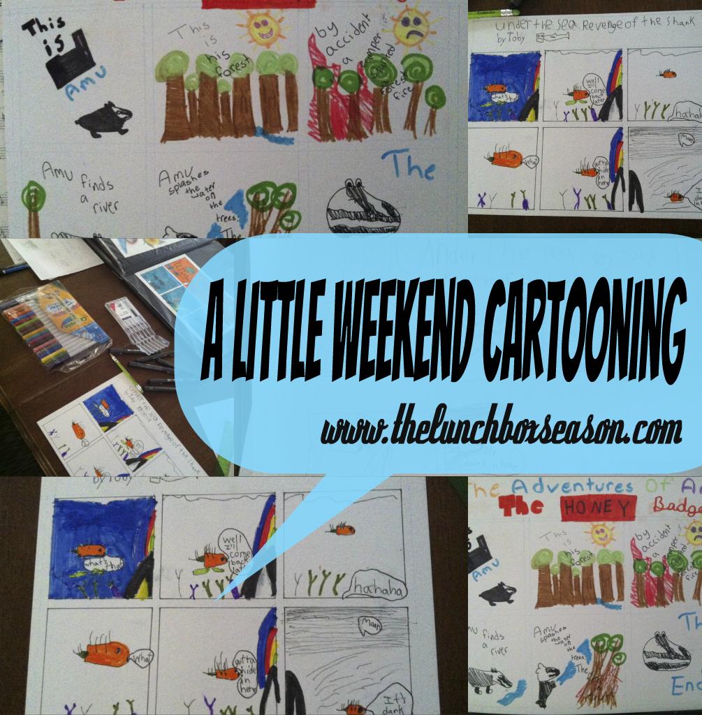 A Little Weekend Cartooning