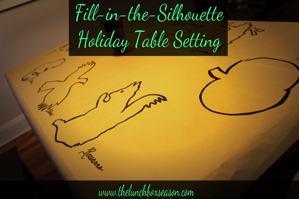 Fill-in-the-Silhouette Holiday Table Setting