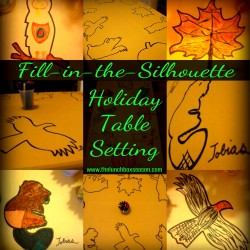 Fill in the Silhouette Holiday Table Setting from The Lunchbox Season 2013