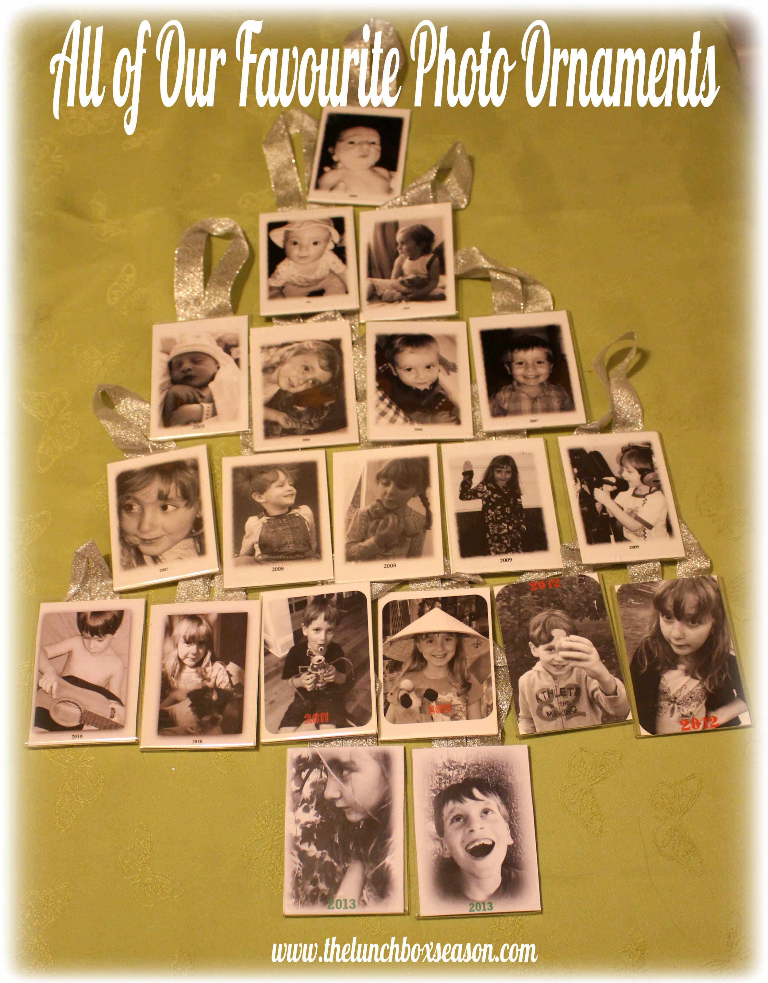 All of our Fave Photo Ornaments