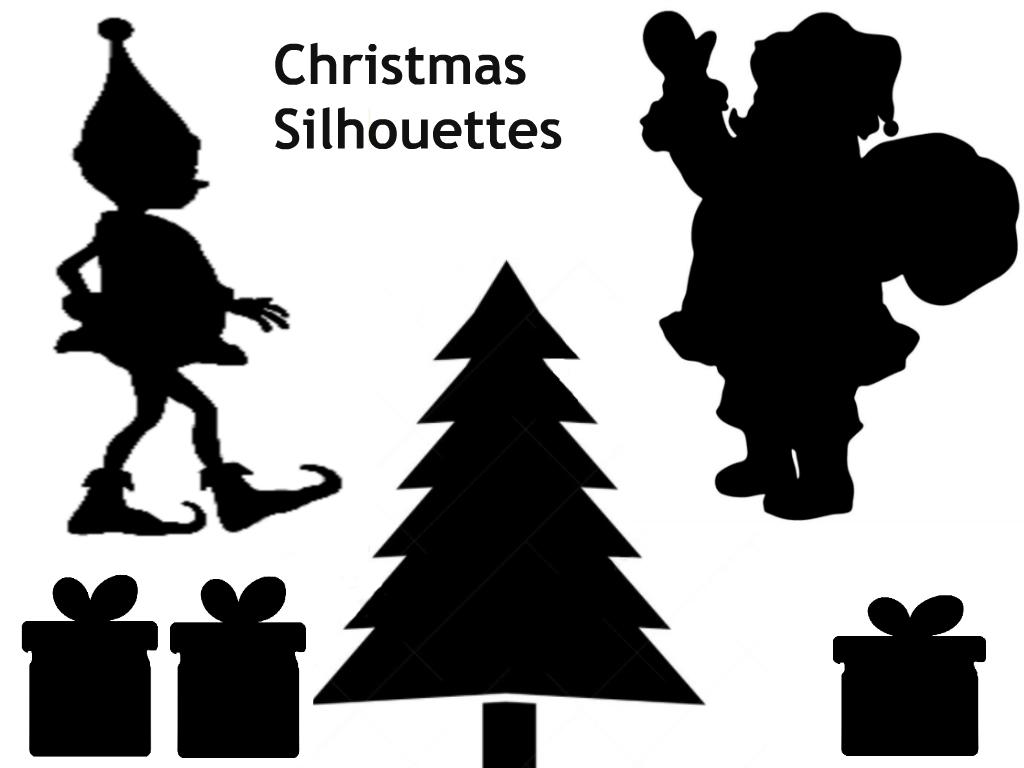 Christmas Silhouettes  Printable