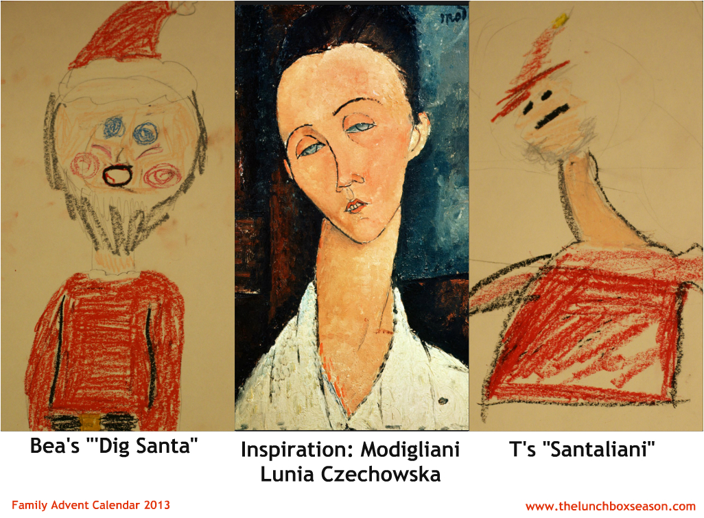 Santa Modigliani Portraits from The Lunchbox Season