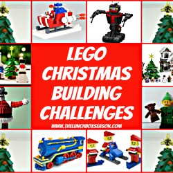 lego christmas building challenges from the lunchboxseason