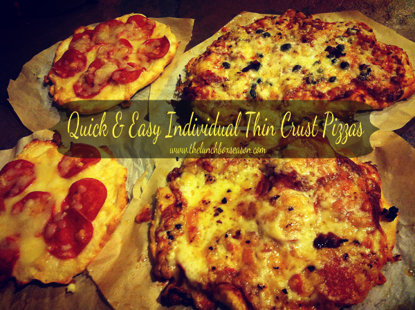 quick and easy individual thin crust pizzas
