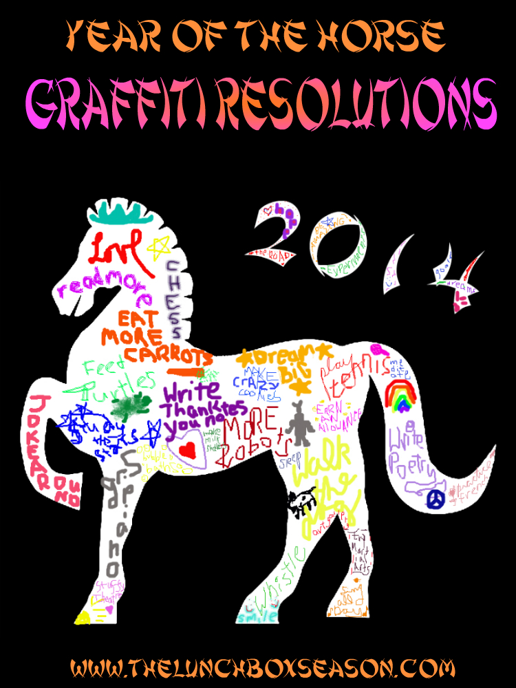 Year of the Horse Graffiti Resolution Sheets