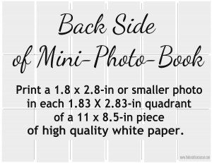 Back Side of Easy Mini-Photo Book Layout