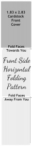 Front Side Horizontal Folding Pattern for the Mini Photo Book